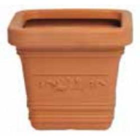 Vaso in resina Mod. Prestige cm. 40x40x35h - fioriera casa giardino