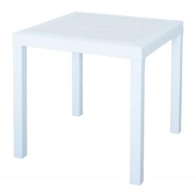 Tavolo bianco in resina antiurto Mod. Dallas cm. 80x80x74h - arredo casa giardino