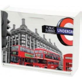 Scarpiera modulare in ABS antiurto London motive cm. 51x17x40h - arredo casa bagno scarpe