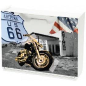 Scarpiera modulare in ABS antiurto Route 66 motive cm. 51x17x40h - arredo casa bagno scarpe