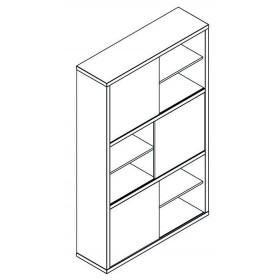Libreria truciolare finitura cemento cm 35.5x120x194.5h Mod PRATICO
