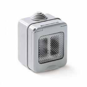 Presa elettrica per esterni 2 posti cassetta da parete protezione IP55