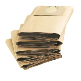 Sacchetti filtro carta 5 pezzi per KARCHER bidone aspiratutto Mod MV3