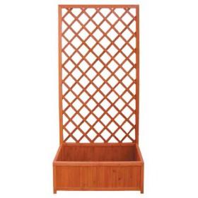 Fioriera con grigliato  in legno trattato cm. 90x40x180 modulare - arredo casa giardino balcone