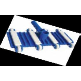 Aspiratore per fondo piscina corpo in polietilene flessibile con contrappeso in acciaio ricoperto di plastica per tubi ø 32 - 38 mm