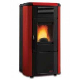 Stufa a pellet Nordica Mod. Viviana Plus canalizzata top in maiolica bordeaux 3.3-10.2 kW 292 m³ - riscaldamento casa arredo interni