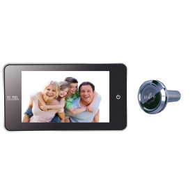 """Spioncino digitale cromo satinato mm 139x77x16 schermo LCD 4.0"""" E0378"""