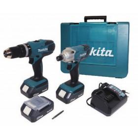 Kit MAKITA 2 Trapani 3 batterie litio 18 V in valigetta - Mod. DK18015