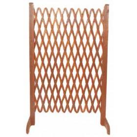 Steccato estensibile  in legno trattato cm. 140x120 - arredo casa giardino balcone