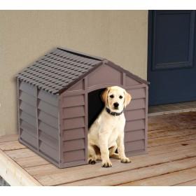 Cuccia per cani resina PVC beige/marrone cm 71x71x68h