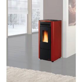 Stufa a pellet Nordica Mod. Ketty bordeaux 2.4-6.3 kW 180 m³ - riscaldamento casa arredo interni