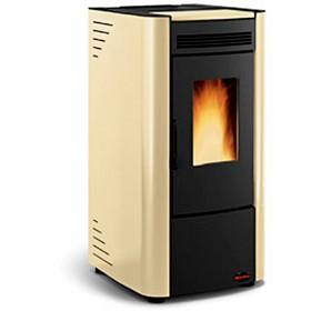 Stufa a pellet Nordica Mod. Ketty pergamena 2.4-6.3 kW 180 m³ - riscaldamento casa arredo interni