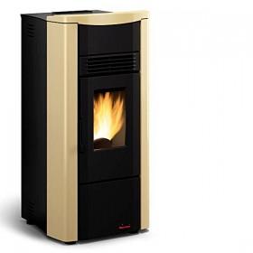Stufa a pellet Nordica Mod. Giusy pergamena top in maiolica 2.4-7.0 kW 200 m³ - riscaldamento casa arredo interni