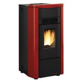 Stufa a pellet Nordica Mod. Giusy Plus canalizzata bordeaux 2.4-8.0 kW 230 m³ - riscaldamento casa arredo interni