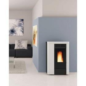 Stufa a pellet Nordica Mod. Annabella canalizzata bianca 2.4-8.0 kW 230 m³ - riscaldamento casa arredo interni