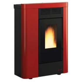 Stufa a pellet Nordica Mod. Annabella canalizzata bordeaux 2.4-8.0 kW 230 m³ - riscaldamento casa arredo interni