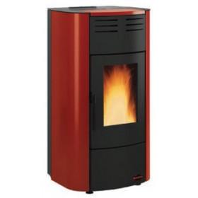 Termostufa a pellet Nordica Mod. Raffaella stufa bordeaux 5.3-18.8 kW 540 m³ - riscaldamento casa arredo interni