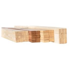 Listello in legno massiccio di abete sezione mm 10x40 altezza 200 cm