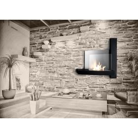 Stufa ecologica a bioetanolo a parete 3.5 kW/h Mod. Cross - riscaldamento arredo casa design