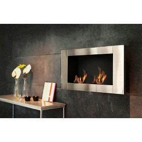 Stufa ecologica a bioetanolo a parete 3.5 kW/h Mod. Long - riscaldamento arredo casa design