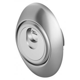 Protezione serrature DEFENDER acciaio finitura cromo satinato Mod MAG 3G