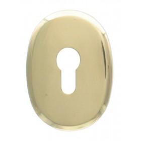 Bocchetta ottone serrature profilo europeo finitura oro lucido Art F 0234