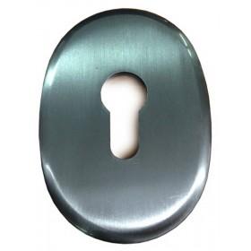 Bocchetta ottone serrature profilo europeo finitura cromo satinato Art F 0234