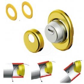 Protezione serrature cilindro europeo DEFENDER oro Mod SFERIK BDS 68