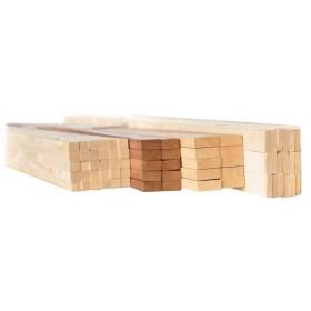 Listello in legno massiccio di abete sezione mm 10x50 altezza 200 cm