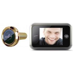 """Spioncino digitale finitura oro lucido mm 135.5X85.5 schermo LCD 3.5"""""""