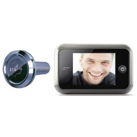"""Spioncino digitale finitura silver mm 135.5X85.5 schermo LCD 3.5"""""""