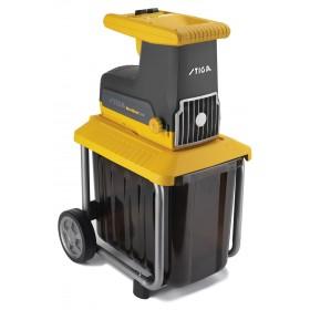 Biotrituratore elettrico Stiga potenza 2500 sistema di triturazione con ingranaggi in acciaio Mod. Bio Silent 2500 - legno giardino compost rami