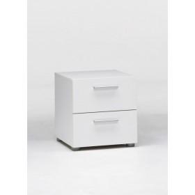 Comodino Tvilum con 2 cassetti colore bianco Mod. Pepe cm. 40x40.3x42h - arredo casa letto