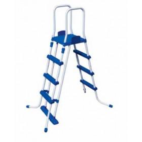 Scaletta doppia con rampa esterna staccabile Bestway per piscine con altezza max 122 cm Mod. 58331 - scale per piscina