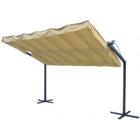 Pergola struttura acciaio top poliestere cm 350x250x228h Mod ORIZZONTE