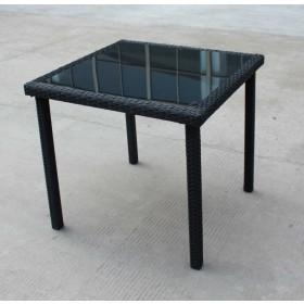 Tavolo polirattan piano in vetro 5 mm dimensioni cm 80x80 Mod NEW EDERA