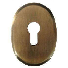 Bocchetta ottone serrature profilo europeo finitura bronzata Art F 0234