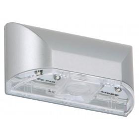 Lampada multiuso 4 LED interruttore a sensore 0.24W corpo in ABS silver