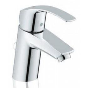 Miscelatore lavabo monocomando in ottone cromato completo di raccordi con limitatore di portata e temperatura - Serie Eurosmart New