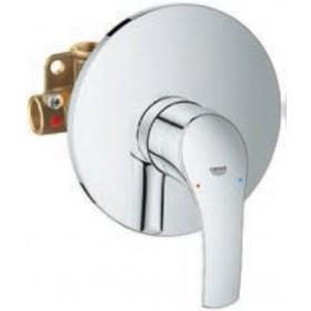 Miscelatore doccia monocomando in ottone cromato con limitatore di portata - Serie Eurosmart New