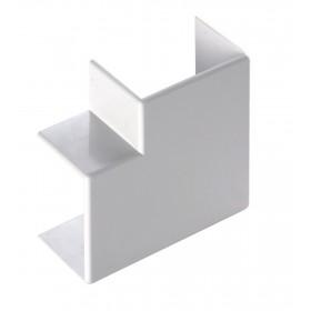 Angolo piano per mini canalina passacavi mm 20x10 conf. 2 pz