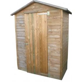 Casetta legno di pino cm 175x83x215h anta singola tetto in perline
