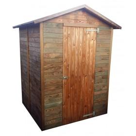 Casetta legno di pino cm 163x175x216h anta singola tetto OBS 10 mm