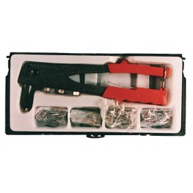 Kit Rivettatrice in scatola con 40 rivetti corpo in alluminio