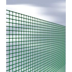 Rete elettrosaldata plasticata mm 12x12 altezza cm 100 rotolo 25 m