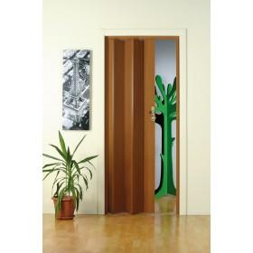 Porta a soffietto legno scuro FORTE dimensioni cm 83x214 Mod MAYA