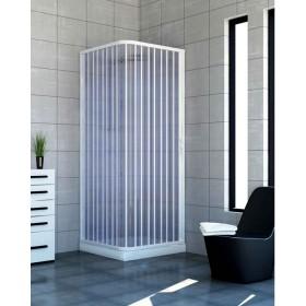 Cabina doccia a soffietto in PVC ad estensione regolabile cm 80/110 - box arredo bagno