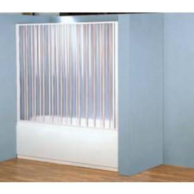 Parete vasca a soffietto in PVC ad estensione regolabile cm 170/150 - box arredo bagno