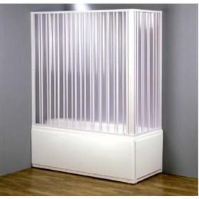 Parete vasca 2 lati a soffietto in PVC ad estensione regolabile cm 170/150 - box arredo bagno