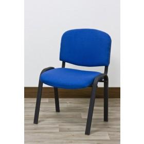 Sedia ufficio struttura tubolare rivestita tessuto colore blu Mod WORK